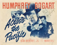 "Across the Pacific (Warner Brothers, 1942). Autographed Title Lobby Card (11"" X 14"")"