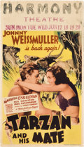 "Movie Posters:Adventure, Tarzan and His Mate (MGM, 1934). Midget Window Card (8"" X 14"")....."