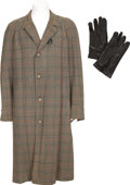 Movie/TV Memorabilia:Costumes, Ernie Kovacs' Overcoat and Leather Gloves.... (Total: 3 Items)