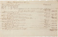 Autographs:Military Figures, Revolutionary War Manuscript Document listing military expenses for Connecticut, 1780-1785....