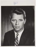 """Autographs:Statesmen, Robert F. Kennedy Signed Photograph. One page, 8.25"""" x 6.5"""",photographic paper, black and white matte finish. On an accompa..."""