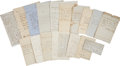 Autographs:Statesmen, Early 19th Century Statesmen Group of Seventeen Letters, all datedbetween 1828 and 1858 and written to Supreme Court Associ...(Total: 16 Items)