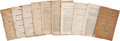 Autographs:Statesmen, Collection of Early Nineteenth Century Imprints: CongressionalSpeeches. Lot contains ten published speeches delivered by va...(Total: 10 Items)