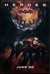 "Batman & Robin (Warner Brothers, 1997). One Sheets (2) (27"" X 41"") Advance. Action. ... (Total: 2 Item..."