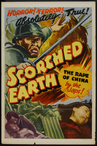 "Scorched Earth (Lamont Pictures, 1942). One Sheet (27"" X 41""). War"