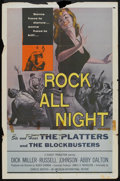 "Movie Posters:Crime, Rock All Night (American International, 1957). One Sheet (27"" X41""). Crime.. ..."