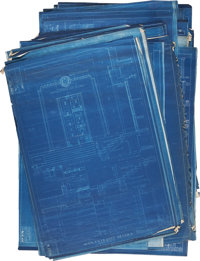 Fort Knox Bullion Depository Original Blueprints. Forty-six unique pages, with some duplication. Each sheet is approx