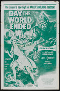 """Movie Posters:Science Fiction, Day the World Ended (American Releasing Corp., 1956). One Sheet (27"""" X 41""""). Science Fiction.. ..."""