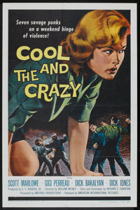 """The Cool and the Crazy (American International, 1958). One Sheet (27"""" X 41""""). Bad Girl"""