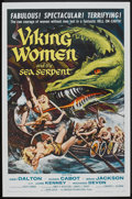 "Movie Posters:Fantasy, Viking Women and the Sea Serpent (American International, 1957). One Sheet (27"" X 41""). Fantasy.. ..."