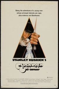 """A Clockwork Orange (Warner Brothers, 1971). One Sheet (27"""" X 41"""") X Rated Version. Science Fiction"""