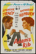 "Movie Posters:Comedy, Adam's Rib (MGM, 1949). One Sheet (27"" X 41""). Comedy.. ..."