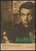 "Movie Posters:Action, Bullitt (Progress Film, R-1970s). East German A2 (16"" X 23""). Action.. ..."