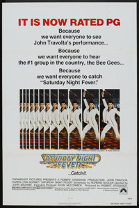 "Saturday Night Fever (Paramount, 1977). One Sheet (27"" X 41"") PG-Rated Style. Drama"