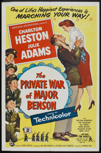 "The Private War of Major Benson (Universal International, 1955). One Sheet (27"" X 41""). Comedy"