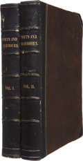 Books:First Editions, W. H. Bartlett [illustrator] and William Beattie. The Ports,Harbours, Watering-Places, and Coast Scenery of Great Brita...(Total: 2 Items)