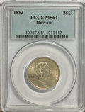Coins of Hawaii: , 1883 25C Hawaii Quarter MS64 PCGS. PCGS Population (306/243). NGCCensus: (173/195). Mintage: 500,000. (#10987)...