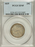 Bust Quarters: , 1835 25C XF45 PCGS. PCGS Population (39/177). NGC Census: (49/230). Mintage: 1,952,000. Numismedia Wsl. Price for NGC/PCGS ...