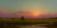 The Hon. Paul H. Buchanan, Jr. Collection  MARTIN JOHNSON HEADE (American, 1819-1904) Sunset over the Mar