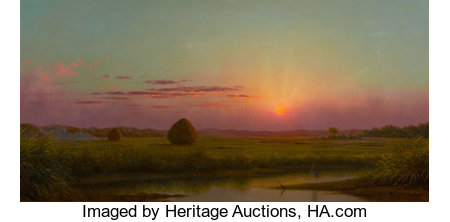 The Hon. Paul H. Buchanan, Jr. Collection MARTIN JOHNSON HEADE (American, 1819-1904) Sunset over the Marsh, c. 1876-...