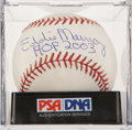 Autographs:Baseballs, Eddie Murray Single Signed Baseball PSA Mint 9. ...