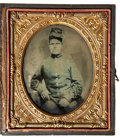 Photography:Ambrotypes, Sixth Plate Ambrotype of a North Carolina Infantryman....