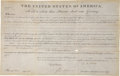 "Autographs:U.S. Presidents, John Quincy Adams Land Grant Signed ""J. Q. Adams"" as thesixth president. One vellum page, partly printed, 15.5"" x 10"", ..."