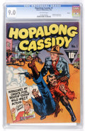 Golden Age (1938-1955):Western, Hopalong Cassidy #1 Denver pedigree (Fawcett, 1943) CGC VF/NM 9.0 Off-white pages....