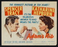 """Adam's Rib (MGM, 1949). Title Lobby Card and Lobby Cards (4) (11"""" X 14""""). Comedy. ... (Total: 5 Items)"""