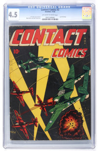 Contact Comics #3 (Aviation Press, 1944) CGC VG+ 4.5 Off-white to white pages