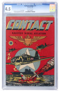 Golden Age (1938-1955):War, Contact Comics #11 (Aviation Press, 1946) CGC VG+ 4.5 Off-white pages....