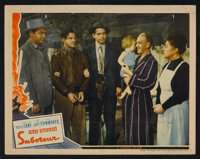 """Saboteur (Universal, 1942). Lobby Cards (2) (11"""" X 14""""). Hitchcock. ... (Total: 2 Items)"""