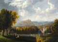Paintings, The Hon. Paul H. Buchanan, Jr. Collection. ROBERT HAVELL, JR. (British/American, 1793-1878). View of the Hudson River fr...