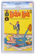 Silver Age (1956-1969):Humor, Richie Rich #1 (Harvey, 1960) CGC VG+ 4.5 Off-white pages....