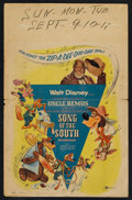 "Movie Posters:Animated, Song of the South (Buena Vista, R-1956). Window Card (14"" X 22""). Animated.. ..."