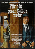 """Movie Posters:Western, For a Few Dollars More (Constantin Film, 1966). German A1 (23"""" X 33""""). Western.. ..."""
