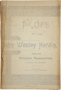 Western Expansion:Cowboy, Book: The Life of John Wesley Hardin: From the OriginalManuscript as Written by Himself, (Seguin [Texas]: Smith...