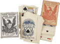 Western Expansion:Cowboy, Playing Cards: Hart's Squared Linen Eagle Nonpareil Pharo Cards.Made by the Samuel Hart & Co. of New York, these cards are ...