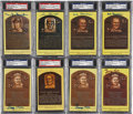 Autographs:Post Cards, Hall of Fame Plaque Postcard Collection (8) PSA/DNA CertifiedAuthentic. ...