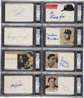 Autographs:Index Cards, Baseball Signed Index Card Collection (25) PSA/DNA Certified Authentic....