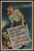 "Movie Posters:Thriller, The Spiral Staircase (RKO, 1945). One Sheet (27"" X 41""). Psychological Thriller. Starring Dorothy McGuire, George Brent, Eth..."