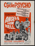 "Movie Posters:Action, Angels from Hell (American International, 1968). Poster (30"" X 40""). Action. Starring Tom Stern, Arlene Martel, Ted Markland..."