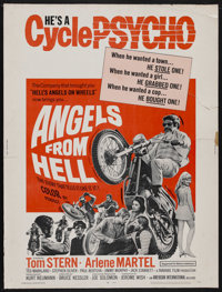 "Angels from Hell (American International, 1968). Poster (30"" X 40""). Action. Starring Tom Stern, Arlene Martel..."