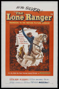 "Movie Posters:Western, The Lone Ranger (Warner Brothers, 1956). One Sheet (27"" X 41"").Western. Starring Clayton Moore, Jay Silverheels, Lyle Bettg..."