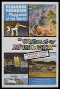 "Movie Posters:Documentary, Wonders of Miami Beach (Columbia, 1965). One Sheet (27"" X 41""). Documentary. Starring George Jessel. Directed by Harry Foste..."