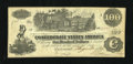 Confederate Notes:1862 Issues, T39 $100 1862 Bogus Back.. ...