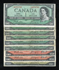 Canadian Currency: , Modified Portrait Very Good or Better.. ... (Total: 9 notes)