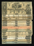 Obsoletes By State:Louisiana, New Orleans, LA- Canal Bank Varieties Choice Crisp Uncirculated.. ... (Total: 17 notes)