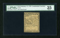 Colonial Notes:Continental Congress Issues, Continental Currency February 17, 1776 $1/3 PMG Very Fine 25....