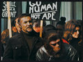 """Movie Posters:Science Fiction, Conquest of the Planet of the Apes (20th Century Fox, 1972). Deluxe Lobby Card Set of 8 (9.75"""" X 13.5"""") and Lobby Card (11"""" ... (Total: 9 Items)"""